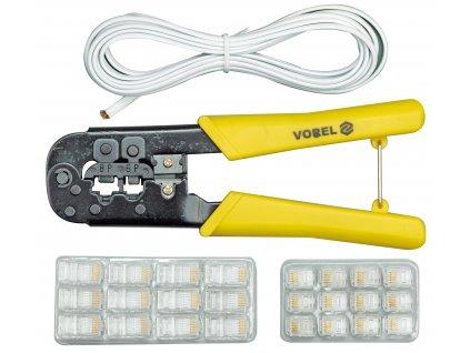 Kleště konektorové + kabel 2,5m Vorel TO-45503
