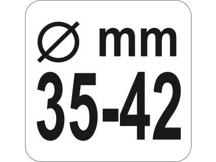 Přípravek na axiální táhla, pr. 35-42mm