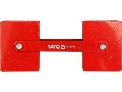 Držák magnetický ke svařování polohovací 2 x 22,5 kg Yato YT-0862