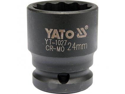 """Nástavec 1/2""""rázový dvanáctihranný 24 mm CrMo Yato YT-1027"""