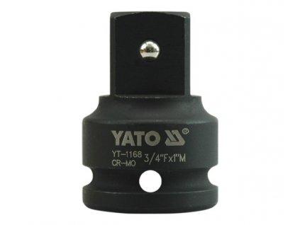 """Nástavec adaptér 3/4""""- 1""""rázový CrMo Yato YT-1168"""