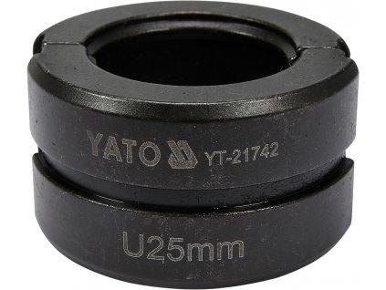 Náhradní čelisti k lisovacím kleštím YT-21735 typ U 25mm Yato YT-21742