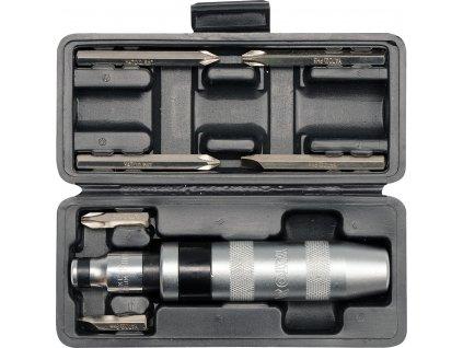 Šroubovák úderový kovový s příslušenstvím 7 ks box Yato YT-2802