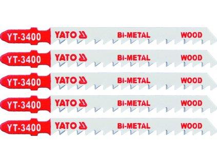 List do přímočaré pily 100 mm na dřevo TPI6 5 ks Bi-Metal Yato YT-3400