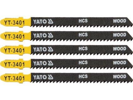 List pilový do přímočaré pily 100 mm na dřevo TPI10 5 ks Yato YT-3401