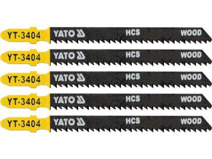 List pilový do přímočaré pily 100 mm na dřevo TPI10 5 ks Yato YT-3404