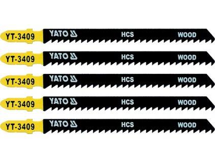 List pilový do přímočaré pily 115 mm na dřevo TPI8 5 ks Yato YT-3409