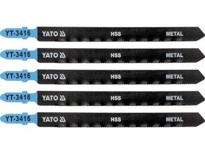 List pilový do přímočaré pily 130 mm na kov TPI21 5 ks Yato YT-3416