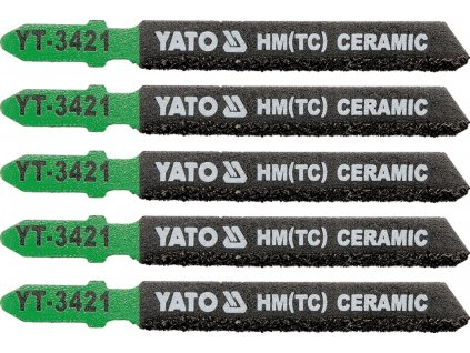 List pilový do přímočaré pily 75 mm na keramiku 5 ks Yato YT-3421