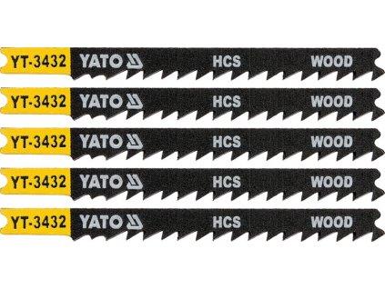 List pilový do přímočaré pily 91,5 mm na dřevo TPI6 5 ks Yato YT-3432