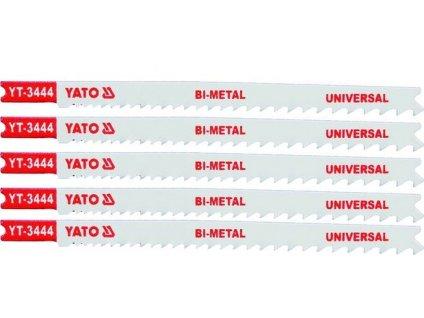 List pilový do přímočaré pily univerzální typ U 10-5TPI sada 5 ks Yato YT-3444