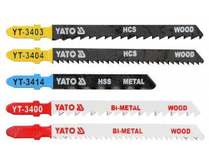Sada listů do přímočaré pily 5ks Yato YT-3445