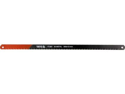 List pilový na železo 300 mm 2 ks Bi-Metal Yato YT-3461