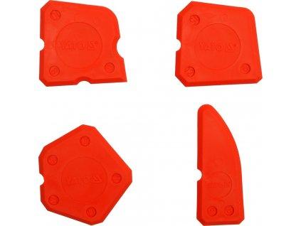 Špachtle na silikon 4 ks  + skvělý pomocník na úhledné silikonové spáry