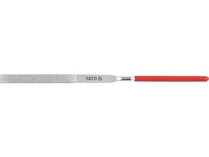 Pilník jehlový diamantový plochý 4x160x50 mm