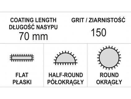 Sada pilníků jehlových diamantových 5 x 180 mm 3 ks