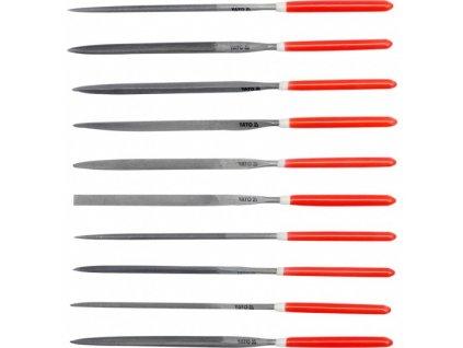 Sada pilníků jehlových 4 x 160 mm 10 ks Yato YT-6164