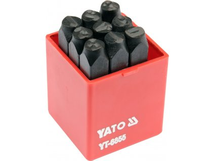 Razidla číselná 8 mm 9 ks  0-9 Yato YT-6855
