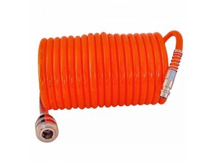 Spirálová hadice PE 5x8 mm - 10 m pro stlačený vzduch PANSAM A533091