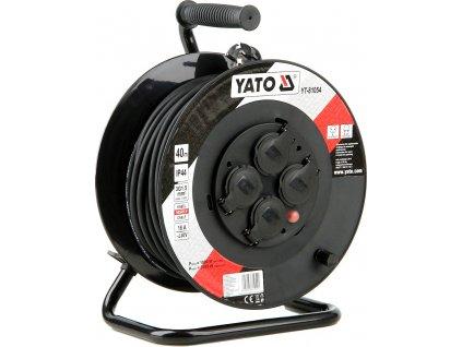 Prodlužovák bubnový 4zásuvky IP44 16A  40 m Yato YT-81054