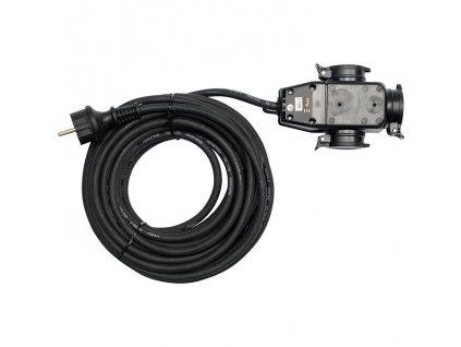 Prodlužovací kabel s gumovou izolací 10m -3zásuvky Yato YT-8116