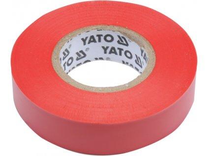 Izolační páska elektrikářská PVC 15mm / 20m červená Yato YT-81592