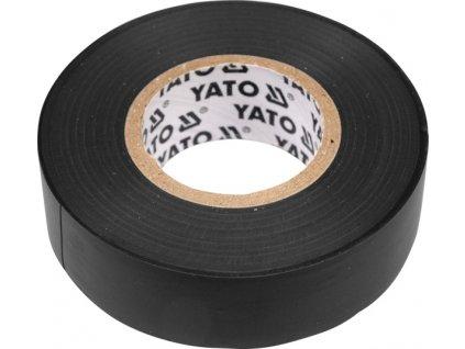 Páska izolační 19 x 0,13 mm x 20 m černá Yato YT-8165