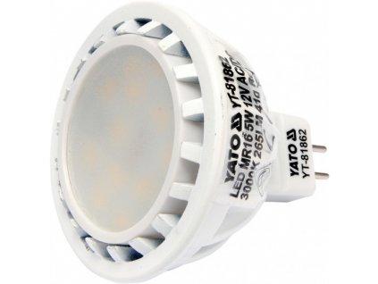 LED žárovka 5W MR16 265 lumen 12V ( 25W ) Yato YT-81862