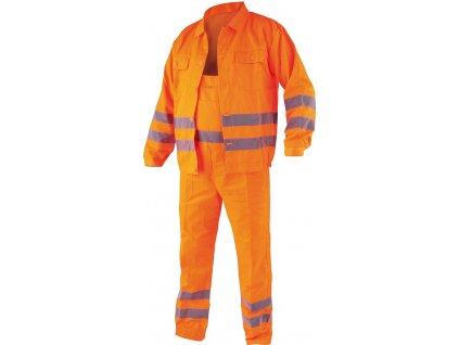 Pracovní oděv, reflexní kalhoty a blůza, CRESTON vel. L Vorel TO-72907