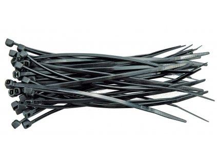 Páska stahovací 200 x 2,5 mm 100 ks černá