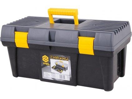 """Box na nářadí plastový 20""""2 zámky šedé víko 50cm Vorel TO-78802"""