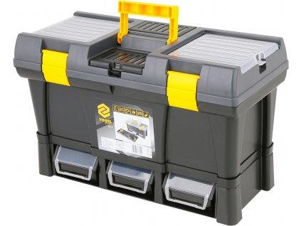 """Box na nářadí plastový 20""""+ 3x zásuvka Vorel TO-78814"""