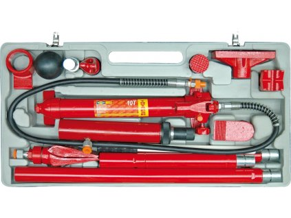 Rozpěrák hydraulický 10t  + velká 12 dílná sada v kufru
