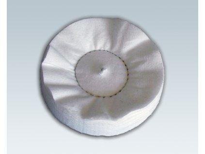 Leštící kotouč Počesané molino 100 x 25 / 8 mm na finální leštění kovů, laku a plastů MICRON LK100PM