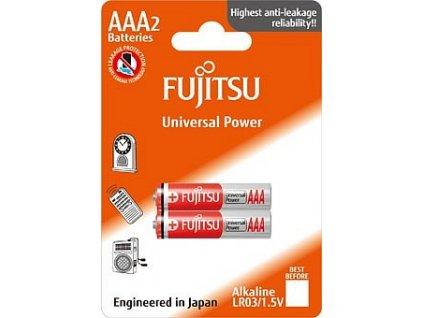 Baterie alkalická Power Fujitsu AAA, blistr 2ks Fujitsu 14903