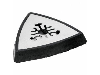 Brusný trojůhelníkový unašeč delta s otvory a suchým zipem pro oscilační brusku DED7945