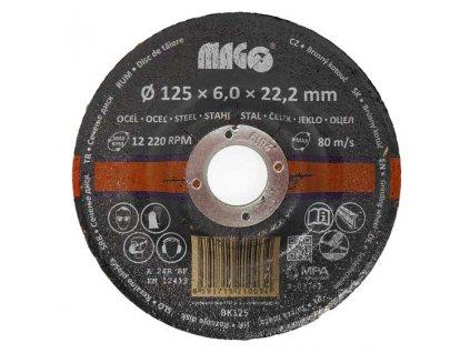 Brusný kotouč na kov 125x6x22,2mm