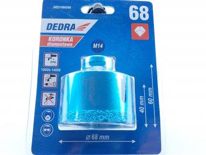 Diamantová vrtací korunka Vacuum brazed do úhlové brusky, průměr68mm DEDRA DED1590S68