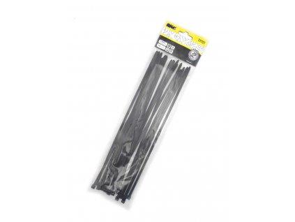 Stahovací pásky 4,8x300mm černé/25ks