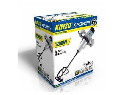 KINZO - elektrické míchadlo na stavební směsi 1200W X-POWER
