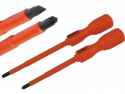 Elektrikářský plochý šroubovák 0,6x3,0 délka 75 mm rukojeť B DEDRA 064A1