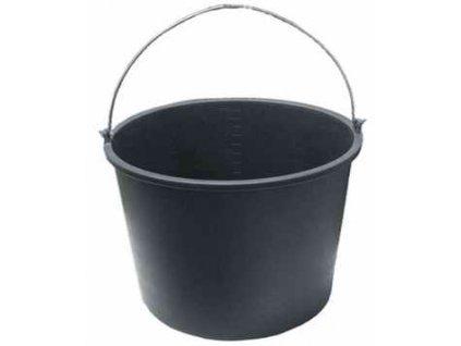 Vědro stavební s držadlem 12l - černé