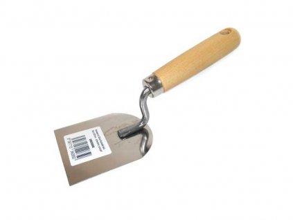 Nerezová lžíce štukatérská 100x130mm - dřevěná rukojeť