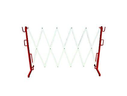 Nůžková zábrana červeno-bílá. Délka 400-2800mm, výška 1100mm MAGG 120062