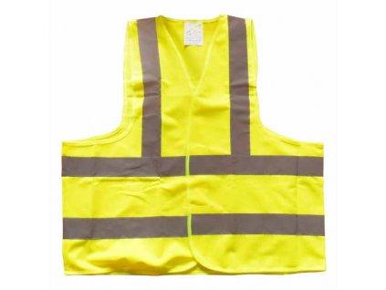 Výstražná vesta žlutá vel. XL- norma EN ISO 20471:2013