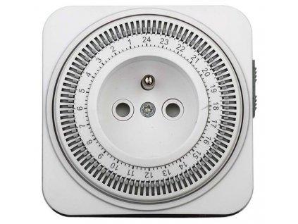 Časový spínač, 24 h., vypínač, 1 režim Solight DT06