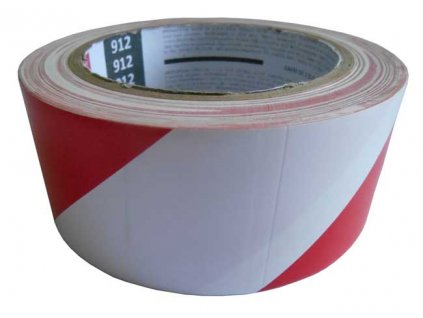 Výstražná páska samolepicí 48mm x 33m - červeno-bílá