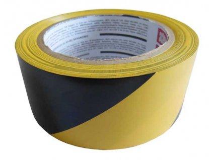 Výstražná páska samolepicí 48mm x 33m - žluto-černá