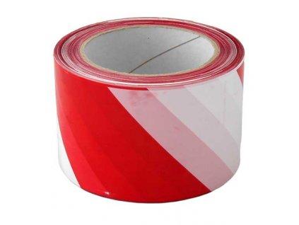 Výstražná páska červeno/bílá 70mm x 200m