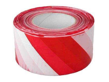 Výstražná páska červeno/bílá 70mm x 500m